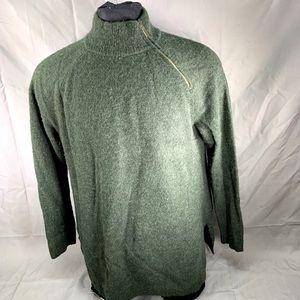 Vineyard Vines Green Diagonal Half Zip Sweatshirt